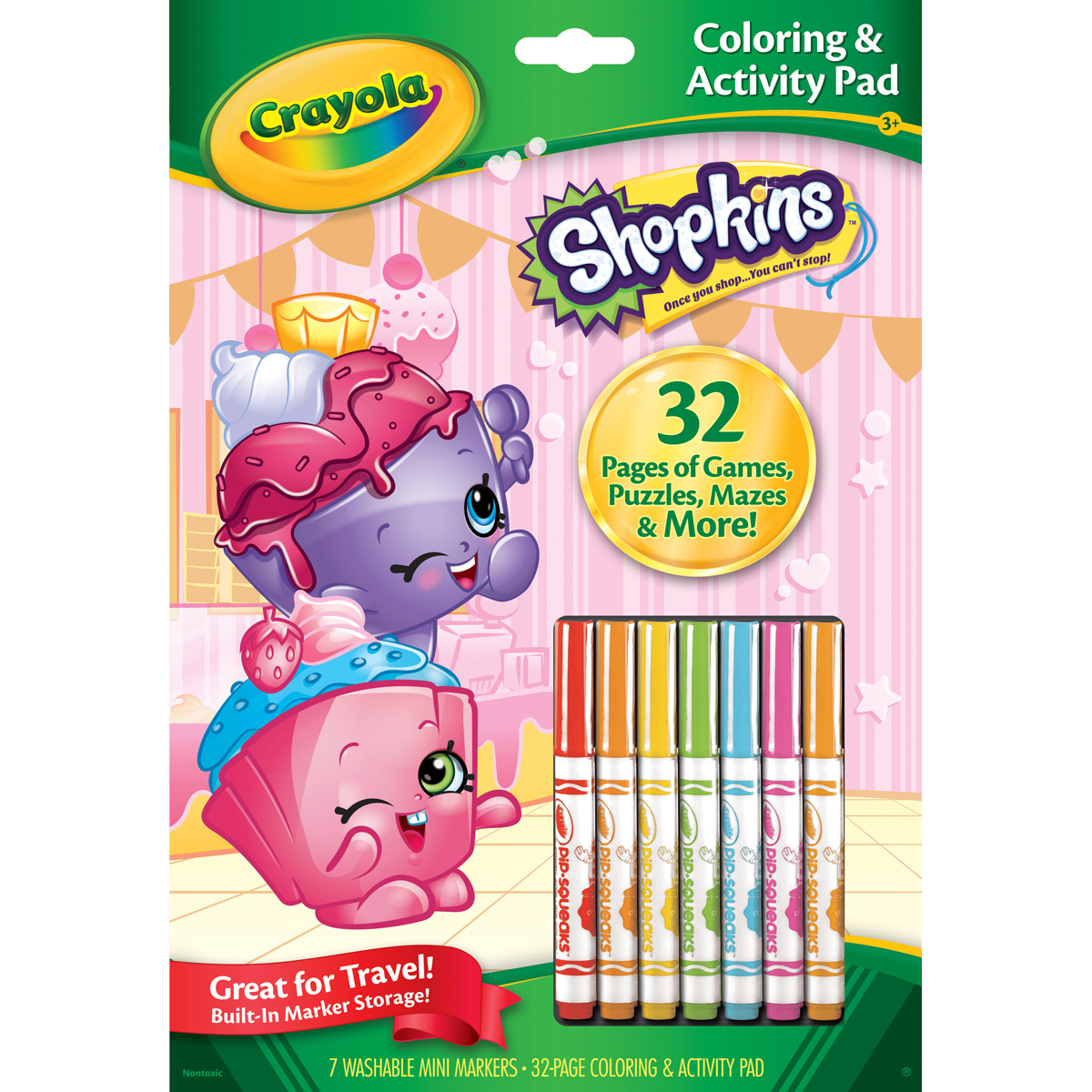 Crayola Shopkins Coloring And Activity Pad With Markers