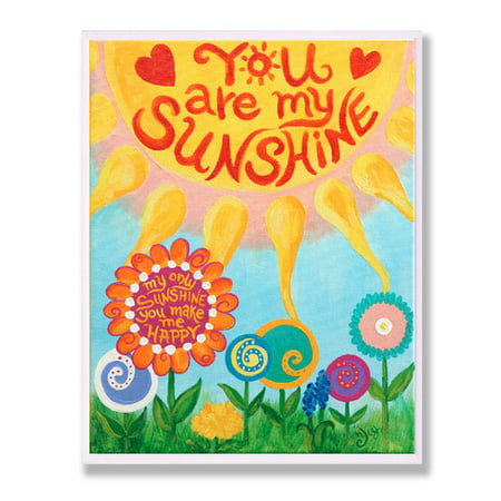 Stupell Industries The Kids Room You Are My Sunshine Wall Plaque