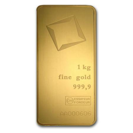 1000 gram Gold Bar - Valcambi (Pressed w/Assay) - Gold Double Bar