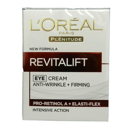 Plénitude Revitalift Crème Contour des Yeux Anti-rides + Fermeté L'Oréal Paris 0,5 oz Crème Contour des Yeux unisexe