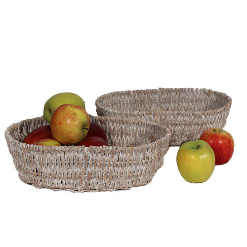Woodard & Charles Carribbean Accents Oval Baskets (Set of 2)