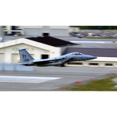 LAMINATED POSTER ELMENDORF AIR FORCE BASE, AlaskaA Tyndall F-15C takes off from here for Cooperative Cope Thunder Poster Print 24 x 36