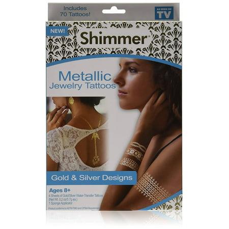 As Seen On TV Shimmer Metallic Jewelry Tattoos ()