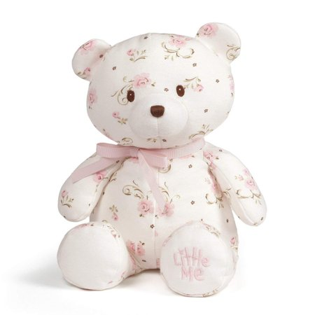 Baby GUND x Little Me Vintage Rose Teddy Bear Plush Stuffed Animal, 10""