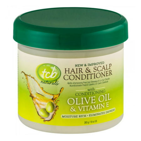 TCB Naturals Hair And Scalp Conditioner, Olive Oil And Vitamin-E, 10 (Tcb Lite Hair And Scalp Conditioner Discontinued)