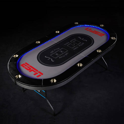 ESPN 10 Player Premium Poker Table with In-Laid LED Lights No assembly required - Walmart.com & ESPN 10 Player Premium Poker Table with In-Laid LED Lights No ...