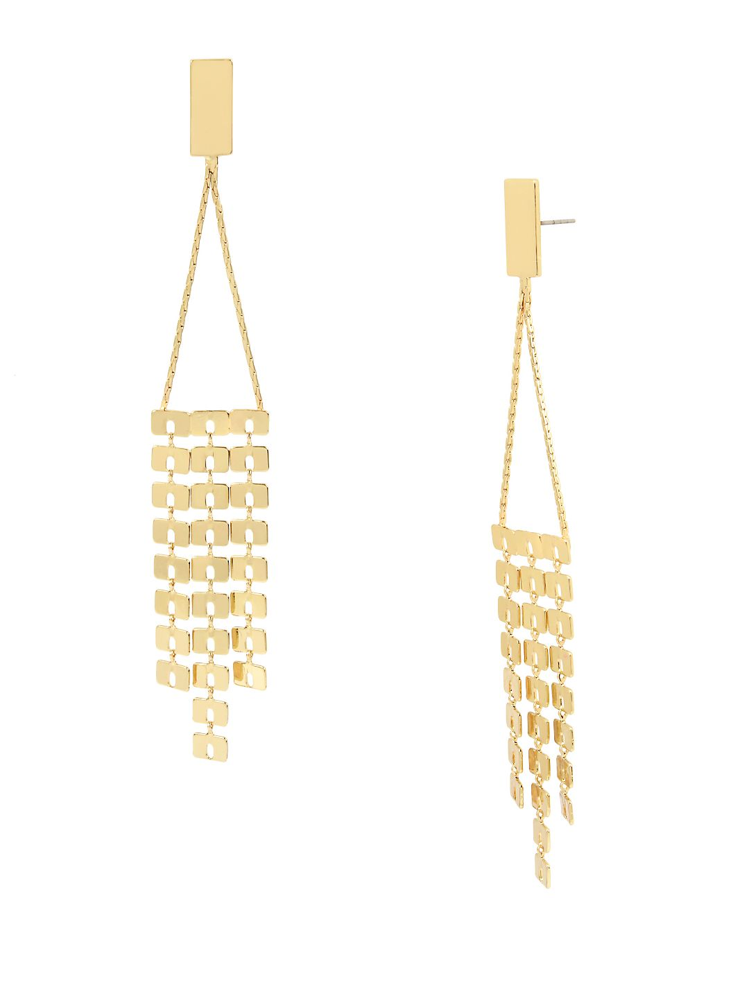 Future Femme Geometric Chain Fringe Chandelier Earrings