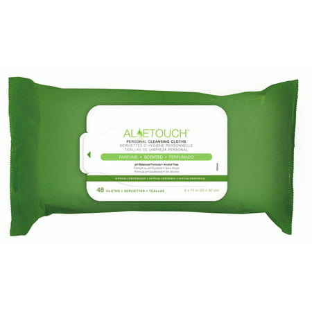 Medline Aloetouch Personal Cleansing Wipes  48 Ct