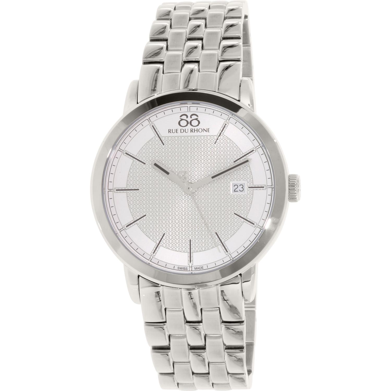 Image of 88 Rue Du Rhone Men's 87WA130016 Silver Stainless-Steel Swiss Quartz Dress Watch