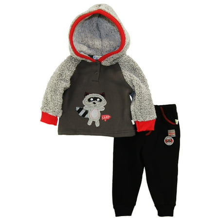 c543b40e8d38 Duck Goose Baby Boys Animal Adventure Microfleece Set Track Jacket 2Pc Pant  Outfit Set