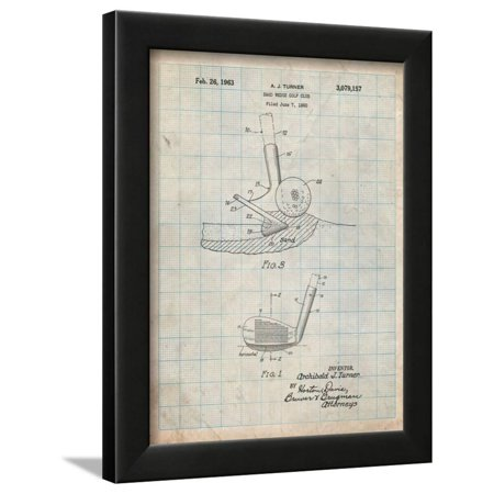 Golf Sand Wedge Patent Framed Print Wall Art By Cole