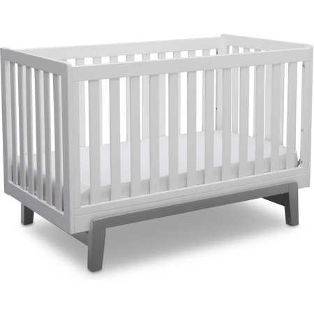 Delta Children Aster 3-in-1 Convertible Crib, Bianca White with (Modern Dot Crib)