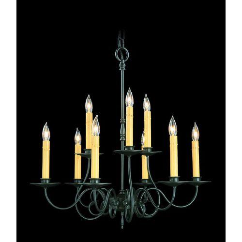 Framburg FR 1319 Faux Drip Candle 9 Light Up Lighting Chandelier from the Roanok