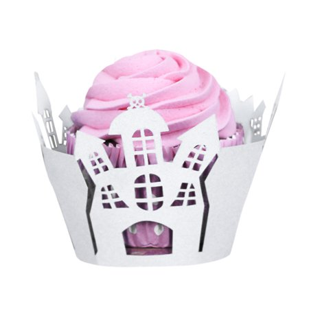 Mosunx Halloween Pumpkin Lace Laser Cut Cupcake Wrapper Liner Baking Cup Muffin for $<!---->