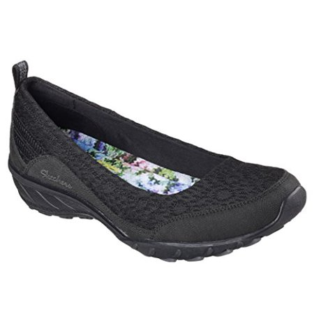Skechers Womens Relaxed Fit Savvy Winsome Wedge,Black,US 7 M