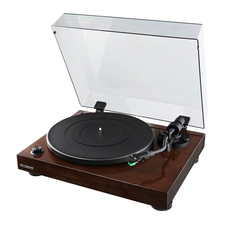 Fluance RT81 Elite High Fidelity Vinyl Turntable Record Player with Audio Technica AT95E Cartridge, Belt Drive, Built-in Preamp, Adjustable Counterweight, Solid Wood Plinth - Walnut - image 11 de 11