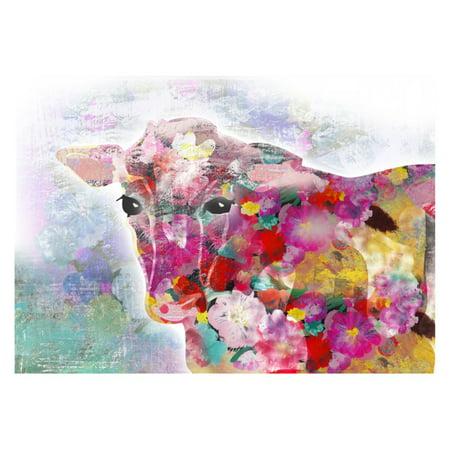 buyartforless Colorful Cow Wall Art - Walmart.com