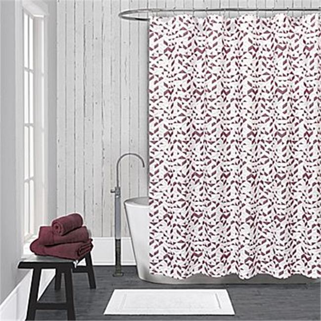Lamont LBSC82160166 LaMont Home Kinetic Shower Curtain - White & Red
