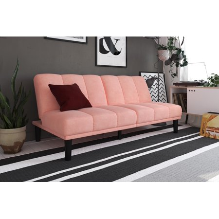 Surprising Mainstays Channel Cushion Futon Pink Andrewgaddart Wooden Chair Designs For Living Room Andrewgaddartcom