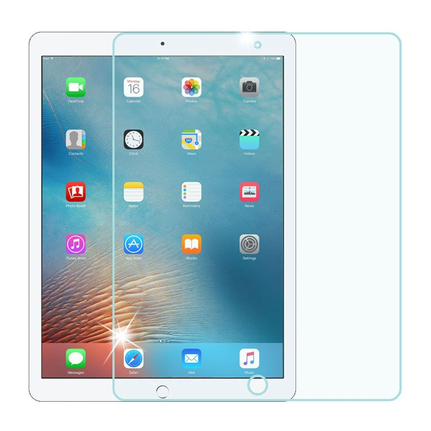Apple iPad Pro 12.9 Screen Protector, by Insten Clear 9H Hardness Tempered Glass LCD Screen Protector Film Cover For Apple iPad Pro 12.9""