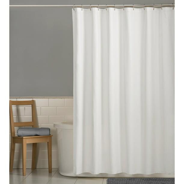 Mainstays Water Repellent 70 X 72 Fabric Shower Liner Walmart Com Walmart Com