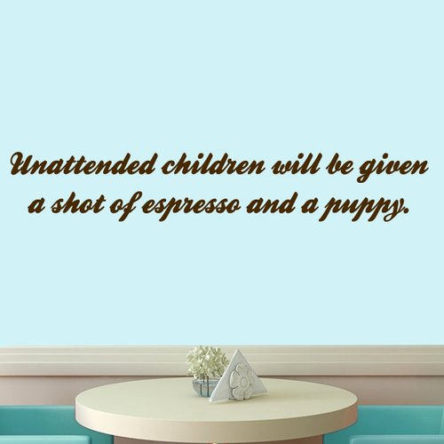 Sweetums Wall Decals Unattended Children Wall Decal
