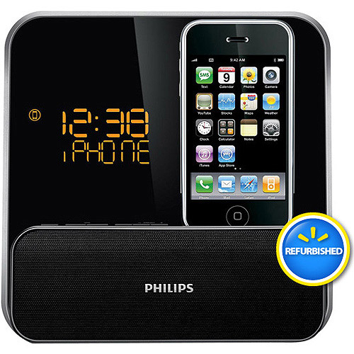 Philips  DC315/37 iPod/iPhone Docking System with Dual Alarm Clock Radio, Refurbished