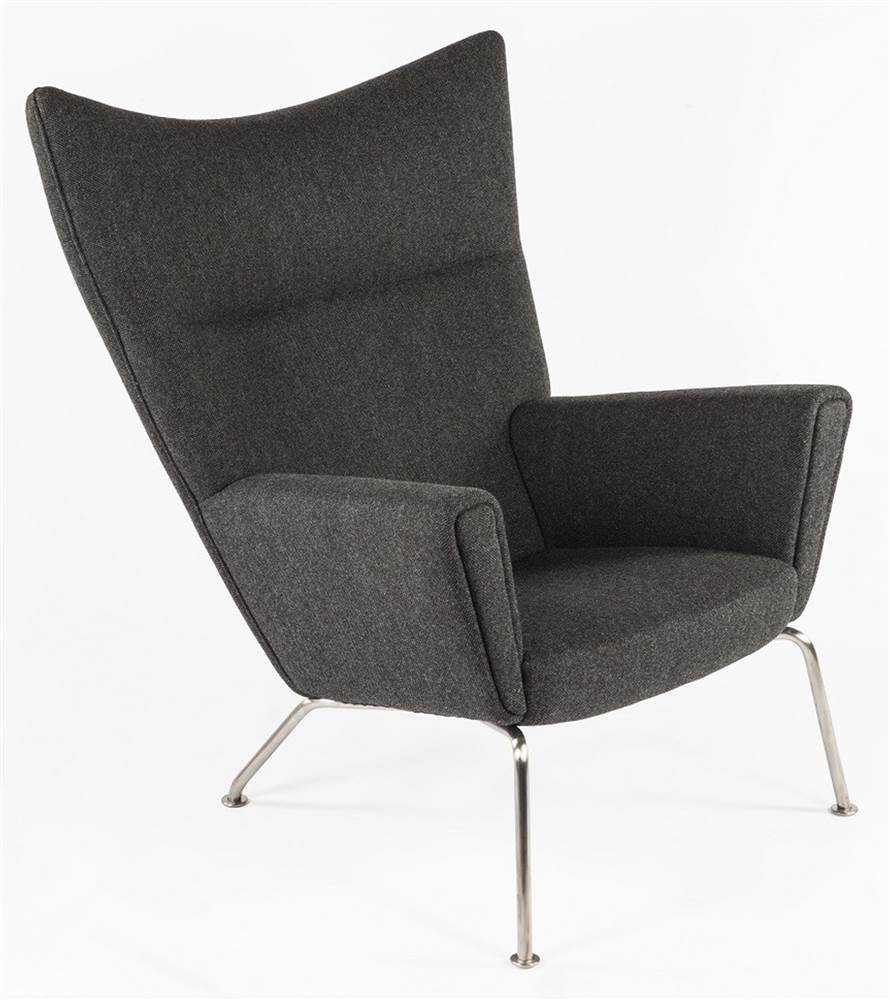 The Hoffman Lounge Chair - Twill Black