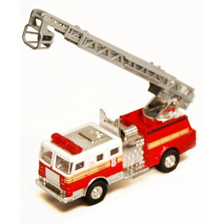 Fire Engine, Red & White - Showcasts 9921/4D - 4.75 Inch Scale Diecast Model Replica (Brand New, but NOT IN BOX)