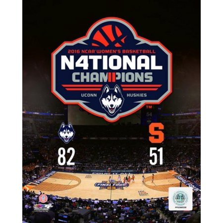 University of Connecticut Huskies 2016 NCAA Womens College Basketball National Champions Composite Photo Print ()
