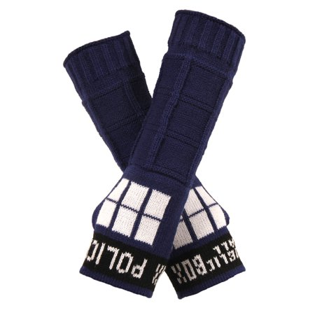Doctor Who TARDIS Adult Costume Arm Warmers One Size