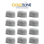 GoldTone (TM) Brand Replacement Charcoal Water Filter Cartridges for Keurig Classic and 2.0 Coffee Maker Machines - 12 Pack