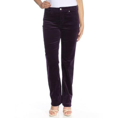Belted Corduroy Pant (RALPH LAUREN Womens Purple Corduroy Pants  Size: 6)