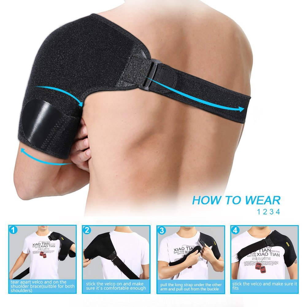4139a9edd80f Yosoo Shoulder Brace for Rotator Cuff Shoulder Tear Injury AC Joint  Dislocated Prevention and Recovery - Walmart.com