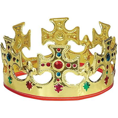 (8 pack) Adjustable Gold King Crown