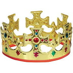 Adjustable Gold King Crown