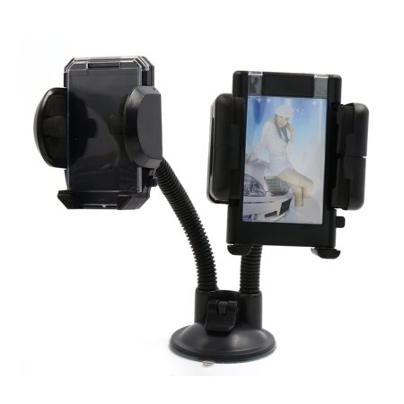 Universal Mobile Phone Holder Double Base Locking Suction Mount For Car