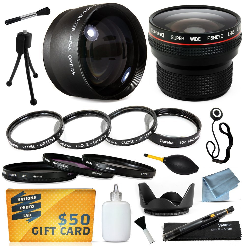 15 Piece Macro Fisheye Telephoto Lens Filters Set includes 3 Piece Filter + 4 Piece Close UP + .20x Lens + 2.2x + More for Olympus SP550 SP560 SP565 SP570 SP-550 SP-560 SP-565 SP-570 Digital Camera