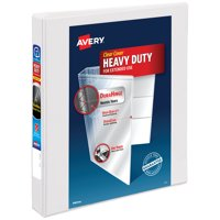 "Avery Heavy-Duty View Binder, 1"" Slant Rings, White (79904)"