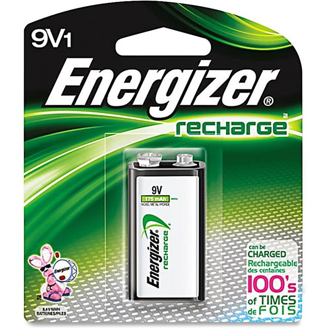Energizer EVENH22NBPCT 9 V Recharge Battery, Multi Color by Energizer