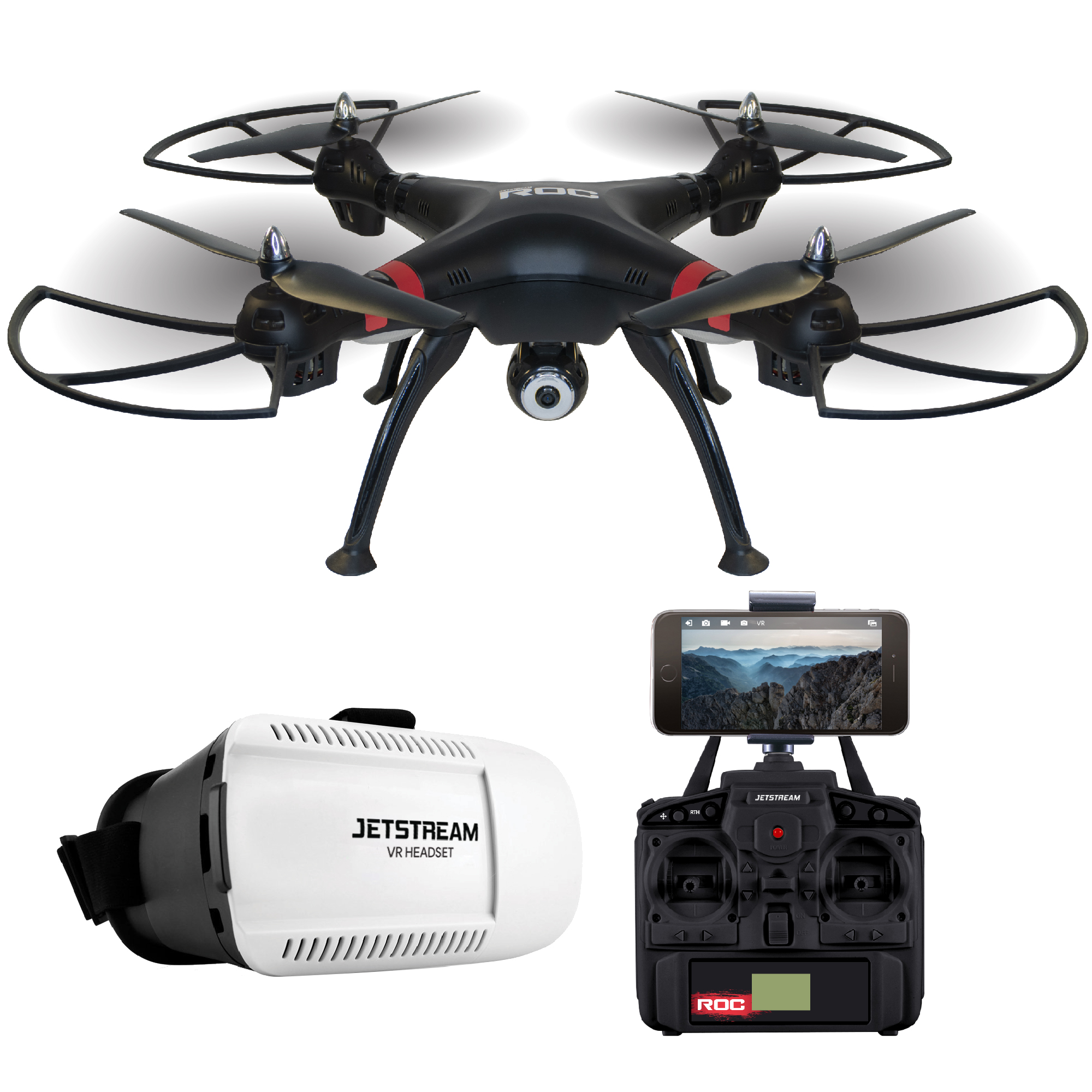 Jetstream ROC 2.4GHz Quadcopter Drone with a Controller, VR Headset, and HD Camera by Jetstream
