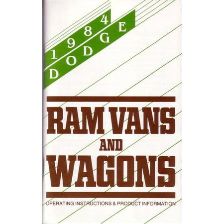 Bishko OEM Maintenance Owner's Manual Bound for Dodge Truck Ram Van & Wagon 1984 ()