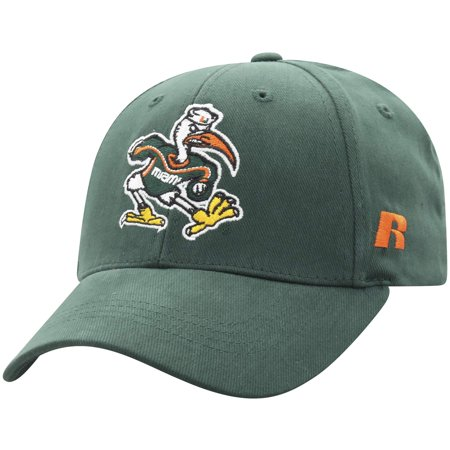 Men's Russell Green Miami Hurricanes Endless Adjustable Hat - OSFA