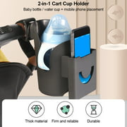 Cup Holder 2-In-1 Baby Stroller Cup Holder Universal Multi-Functional Stable Placement Mobile Phone Holder Bab