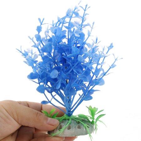 Fish Tank Aquarium Plastic Plant Manmade Underwater Landscape Blue Green 5pcs - image 1 of 3