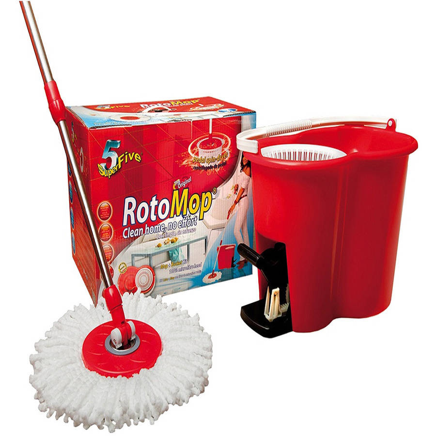 Superfive Original RotoMop Broom and Bucket