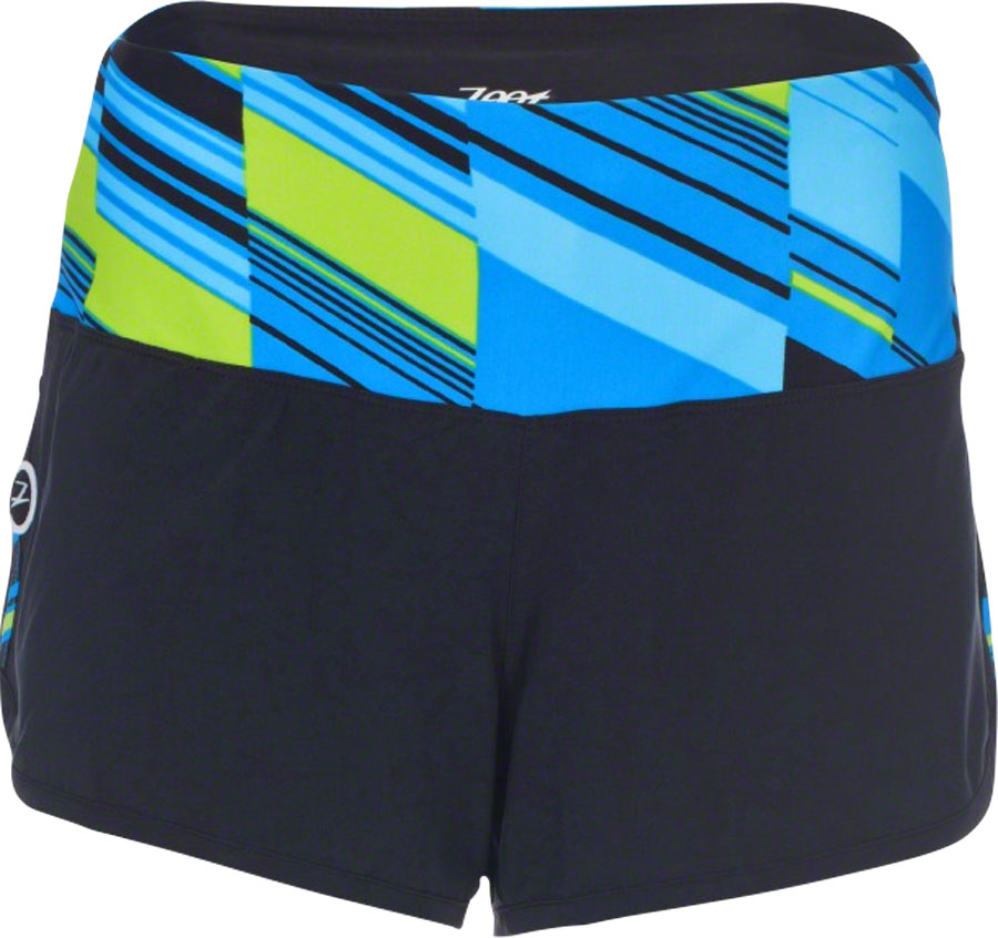 "Zoot PCH 3"" Women's Run Short: Blue/Yellow Slice Print SM"