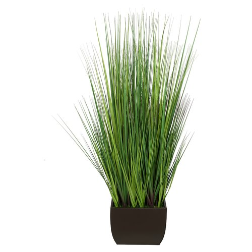 House of Silk Flowers Inc. Artificial 50'' Foliage Grass in Decorative Vase
