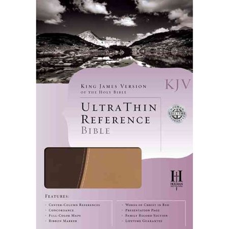 Holy Bible: KJV Ultrathin Reference Bible, Brown Tan, Duotone, Simulated Leather by