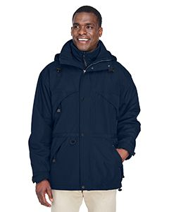 Ash City North End Adult 3-in-1 Parka with Dobby Trim MIDN NAVY 711 3XL 88007 by Ash City - North End